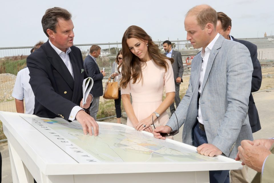 Duke and Duchess of Cambridge visit Nansledan,