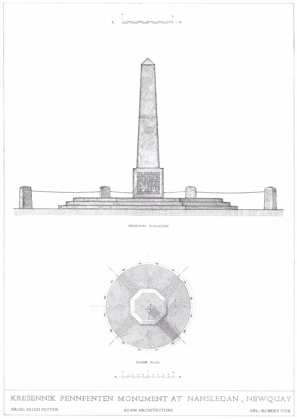Nansledan monument drawing