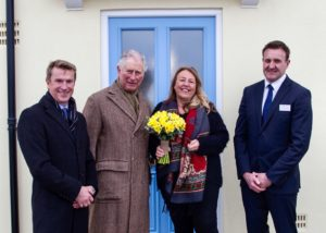 Nansledan homeowner receives keys from The Duke of Cornwall.