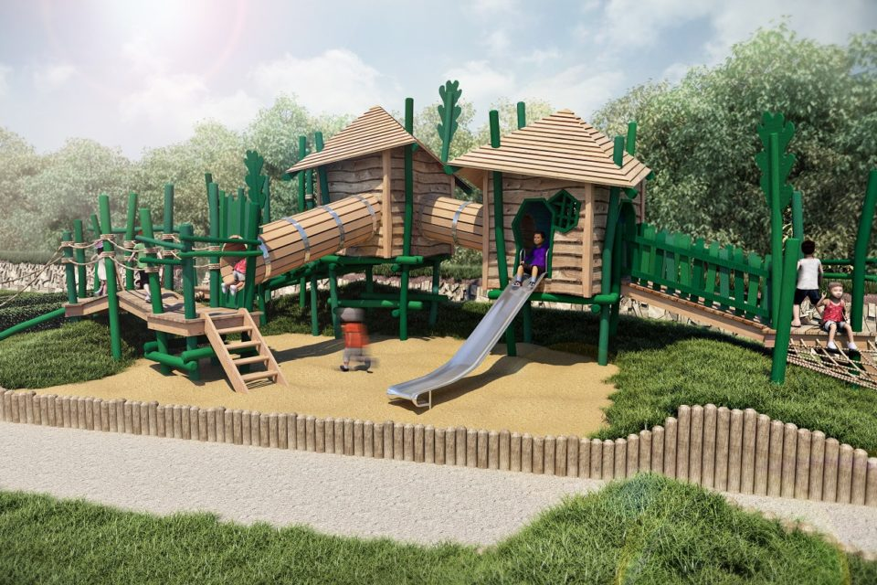 Computer generated image of the first adventure play area at Nansledan