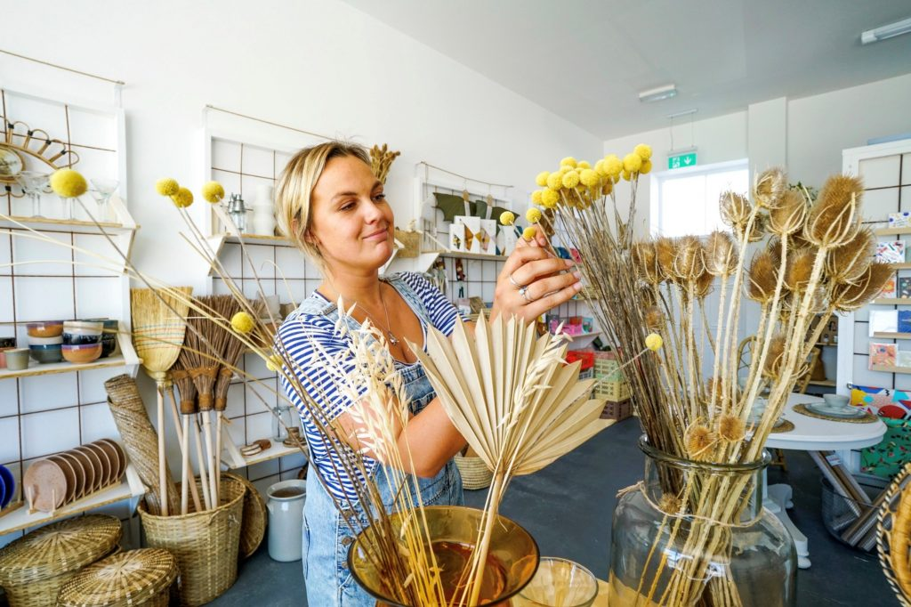 Lizy Drinkwater has opened a new homewares store called Teylu Trading in Nansledan, the Duchy of Cornwall's development of new homes and businesses on the edge of Newquay in Cornwall.